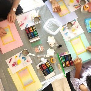 3色パステルアート @ KOKO心理学スクールで